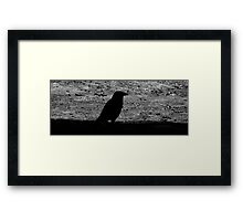 The haunting shadow Framed Print