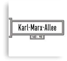 Karl-Marx-Allee, Berlin Street Sign, Germany Canvas Print