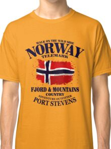 Norway Flag - Vintage Look Classic T-Shirt