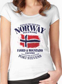Norway Flag - Vintage Look Women's Fitted Scoop T-Shirt