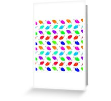 Cute & Colorful Festive Christmas Light Bulbs Greeting Card