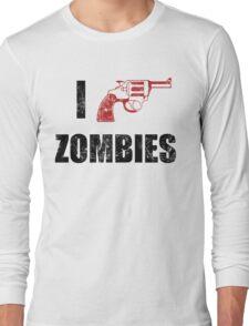 I Shotgun Zombies/ I Heart Zombies  Long Sleeve T-Shirt
