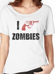 I Shotgun Zombies/ I Heart Zombies  Women's Relaxed Fit T-Shirt