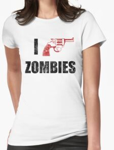 I Shotgun Zombies/ I Heart Zombies  Womens Fitted T-Shirt
