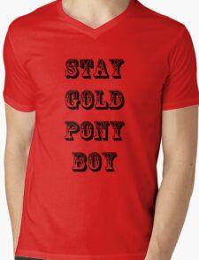 Stay Gold Pony Boy Mens V-Neck T-Shirt