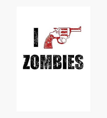 I Shotgun Zombies/ I Heart Zombies  Photographic Print