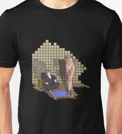 she is built  Unisex T-Shirt