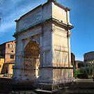Jewish Arch - Arch Of Titus - Rome - Italy by Al Bourassa