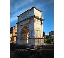 Jewish Arch - Arch Of Titus - Rome - Italy Photographic Print