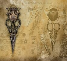 The Baptista Imp Paper-Doll Shears by Bethalynne Bajema