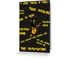 Joan Jett - Song Titles Greeting Card