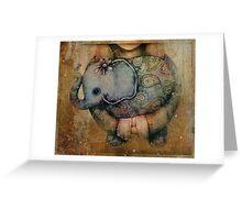 Paisley Elephant Greeting Card