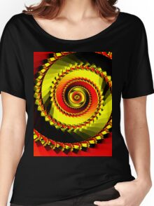 Red & yellow spiral Women's Relaxed Fit T-Shirt