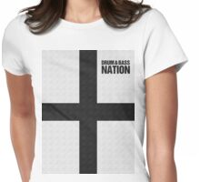 DRUM AND BASS NATION (BLACK) Womens Fitted T-Shirt