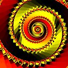 Red & yellow spiral by Rupert Russell
