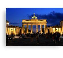 Berlin, Brandenburg Gate in the Blue Hour Canvas Print