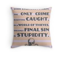 Fear and Loathing / Hunter S. Thompson Quote Throw Pillow