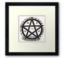witchcraft concept with hebrew text  Framed Print