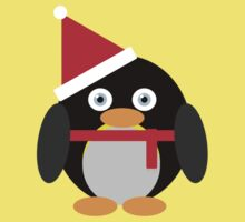 Festive Penguin Baby Tee