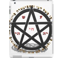 witchcraft concept with hebrew text  iPad Case/Skin