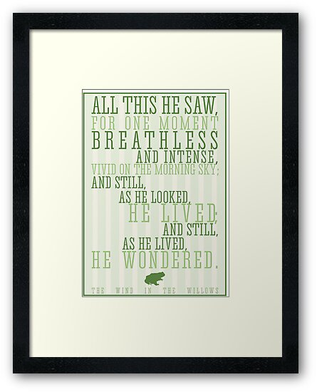 Wind in the Willows / Kenneth Graham Quote by Emily Farquharson