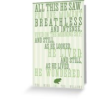 Wind in the Willows / Kenneth Graham Quote Greeting Card