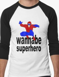 wannabe superhero 1 Men's Baseball ¾ T-Shirt