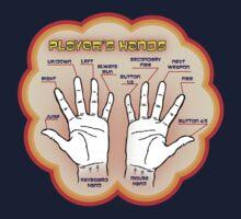 The player's hands. Kids Tee