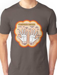 The player's hands. Unisex T-Shirt
