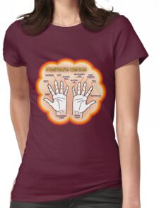The player's hands. Womens Fitted T-Shirt