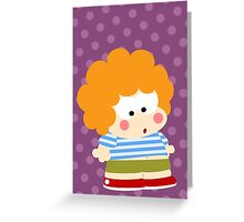 Curly Boy Greeting Card