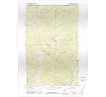 USGS Topo Map Washington State WA Abercrombie Mtn 239719 1967 24000 Poster