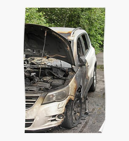 burned-out car Poster