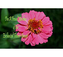 Banner - Enchanted Flowers Proud Member Photographic Print