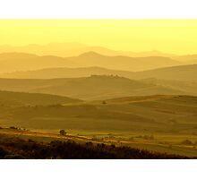 Hills At Dusk Photographic Print