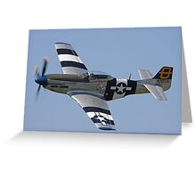 P51D Mustang  Greeting Card