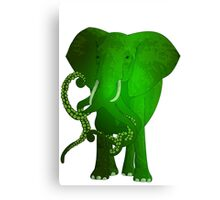 evolution of the elephant Canvas Print