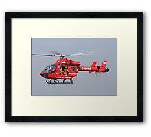 Londons air ambulance Framed Print