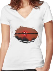 Fire wire Women's Fitted V-Neck T-Shirt