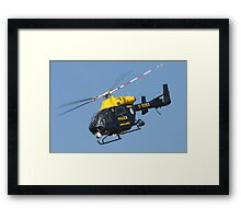 The Sussex police helicopter Framed Print