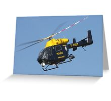 The Sussex police helicopter Greeting Card