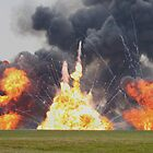 Huge pryotechnics explosion. by mooneyes