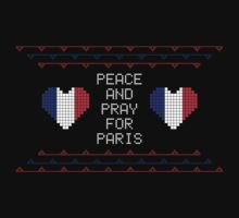 Peace And Pray For Paris Ugly Christmas Sweater by tshiart