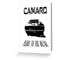 CAMARO SS - PEDAL TO THE METAL Greeting Card