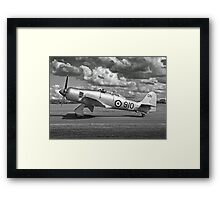Black and white image of Hawker Sea fury. Framed Print