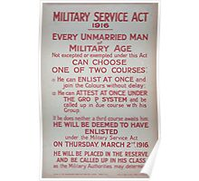 Military Service Act 1916 353 Poster