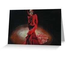 Dramatic in Scarlet Greeting Card