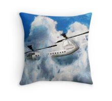 A digital painting of my vector drawing of a Chinook Type Helicopter Throw Pillow