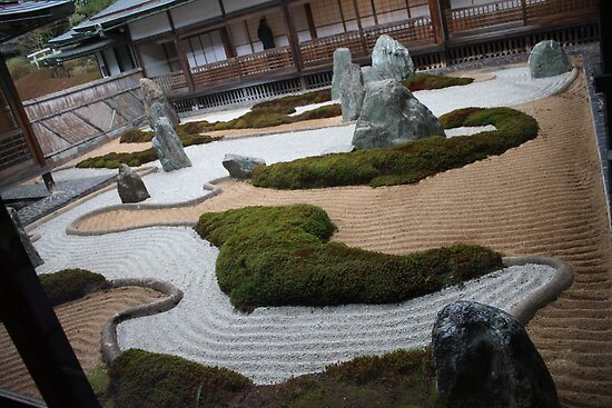 Modern zen garden by john julian redbubble for Jardin zen interior