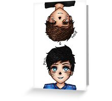 Anime Dan and Phil Greeting Card